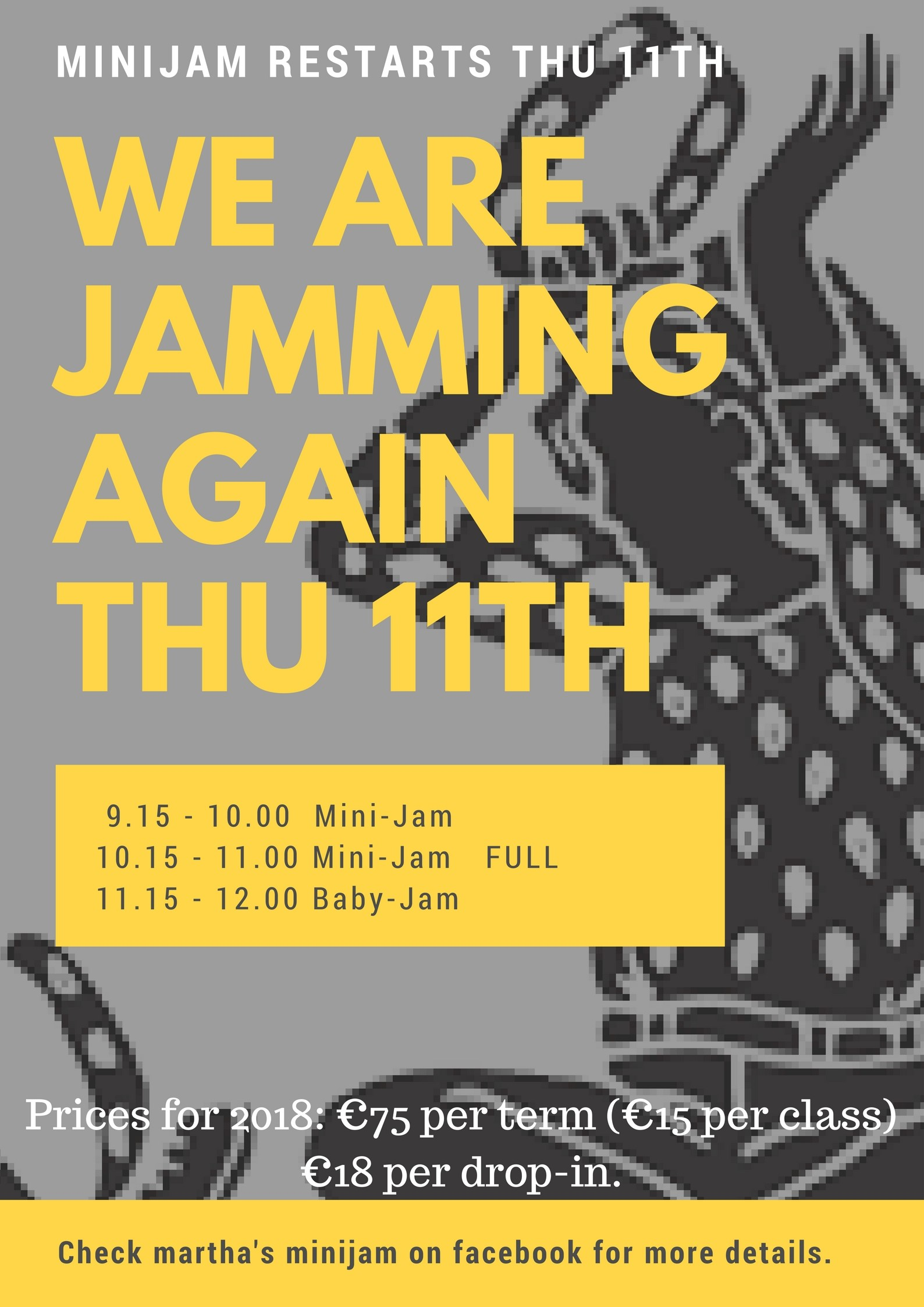 Baby & Mini Jam Re-starts January 11th